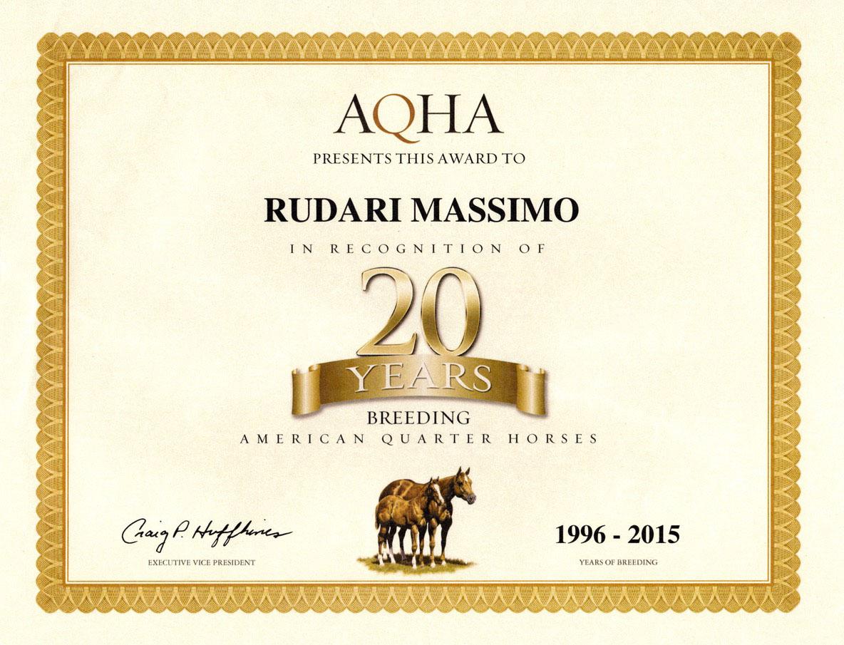 AQHA 20 anni